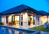 Hua-Hin Beautifull House For Sale, bali Mix Thai Style,Land Plot Side503.41Sq.m Living area 281.60Sq.m 3Bed2Bath,1Tubbath,4air cons, Western Kitchen, Included Refrigerator,Build in furniture is Wood, Swimming pool 3.5X9M. Garden & 2 cars park - DDproperty.com